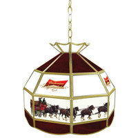 Budweiser Clydesdale 16 inch Tiffany Lamp Light Fixture