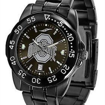 Ohio State Buckeyes Mens Fantom Watch Gunmetal Finish Black Dial