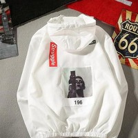 palace Brand Clothing Women Men Jacket Spring Summer off Thin Men's Windbreakers Hood Character Printed off white Casual Coat Jacket
