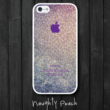 iPhone 5 Case, iPhone 5S Case - Purple Leopard Ombre / iPhone 5S Case, iPhone 5S Cover, Cover for iPhone 5S, Case for iPhone 5S