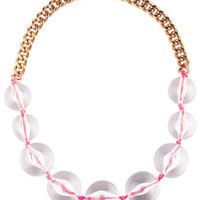 Neon Cord Bead Necklace - Multi