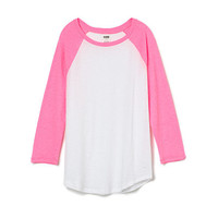 Slouchy Baseball Tee - PINK - Victoria's Secret