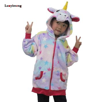 Baby Girls Star Unicorn Hoodies Sweatshirts Boys Cartoon Hooded Hoodies Outerwear Children Kids School Outfits Clothing Infant