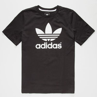 Adidas Trefoil Boys T-Shirt Black  In Sizes