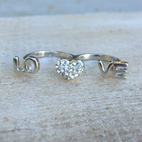 Sparkling Love Ring [3915] - $12.00 : Vintage Inspired Clothing & Affordable Dresses, deloom | Modern. Vintage. Crafted.