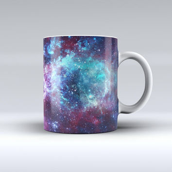 The Trippy Space ink-Fuzed Ceramic Coffee Mug