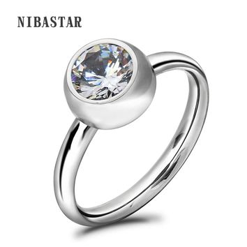 Woman Replacement Crystal Change Color Ring New Fashion Gold/Rose Gold/Silver Color Finger Stainles steel Jewelry Christmas Gift