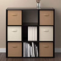 Ameriwood 6-Cube Black Storage Cubby - Big Lots