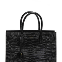 SAINT LAURENT 'Small Sac de Jour' Croc Embossed Tote