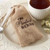 Perfect Blend Burlap Bag with Coffee - 12 Pack