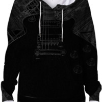Squared Away Black Hoodie created by Eric Rasmussen | Print All Over Me