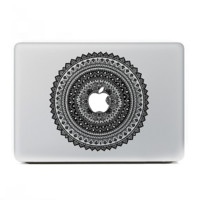 "Black Tribal Floral MacBook Skin Decal Sticker for Apple Macbook Pro Air Mac 13"" inch Laptop 13 Inch N0014"