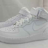 NEW MEN'S NIKE AIR FORCE 1 MID '07 315123-111 WHITE