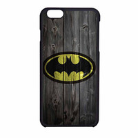 Batman Logo On Wood iPhone 6 Case