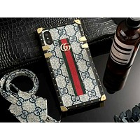 GUCCI Tide brand metal buckle bracelet iPhone7plus protective cover #3