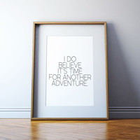Child Room Decor PRINTABLE Art,ADVENTURE AWAITS,Adventure Time,Typography Print,Nursery Decor,Gift For Kids,Kids Room Decor,Watercolor Print