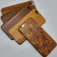 Apple iphone wood grain protective fashion back wooden cover