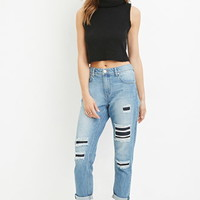 Contemporary Life in Progress Distressed Boyfriend Jeans