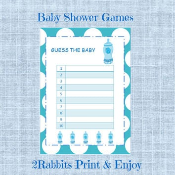 image relating to Guess the Baby Food Game Printable identified as Wager the Child Foodstuff - Boy Child Shower-Printable Little one Shower Activity-Instantaneous Electronic Printable- Light-weight Blue Polka Dot History-Blue Youngster Bottle