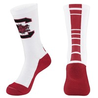 Mojo South Carolina Gamecocks Champ 1/2-Cushion Performance Crew Socks - Women, Size: 9-11 (White)
