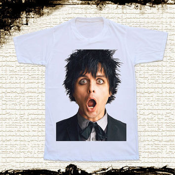 Size S -- GREEN DAY Shirts Billie Joe Armstrong Shirts Alternative Rock Shirts Unisex T Shirts Women T Shirts White T Shirts Punk T Shirts