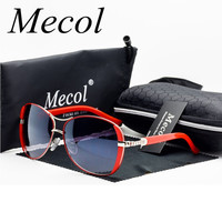 Mecol 2018 Oculos High Quality Sunglasses Women Glasses Vintage with Box Sunglasses Women Brand Designer Ladies Sun Glasses M071