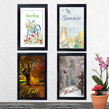 Four Seasons Wall Art - Spring - Summer - Fall - Autumn - Winter - Instant Printable Download - Anniversary, Birthday, Wedding Gift - Print