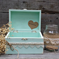 Rustic Wedding Wish Box, Guest Book Alternative, Distressed Wooden Wish Box, Keepsake Box, Wedding Advice Box,