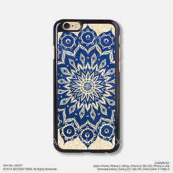 Blue Mandala Floral iPhone 6 6Plus case iPhone 5s case iPhone 5C case iPhone 4 4S case 457