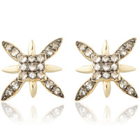 Annoushka Gold and White Sapphire Frost Stud Earrings | Accessories | Liberty.co.uk