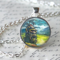 Howl's Moving Castle Necklace, Anime Pendant, Anime Jewelry