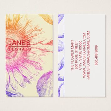 Florist Sunflower business Cards