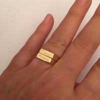 Engraved ring, Personalized Ring,Initial ring, letter Ring ,Pinky ring,