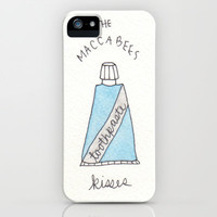 Toothpaste Kisses // The Maccabees iPhone Case by Cecilia Majzoub | Society6