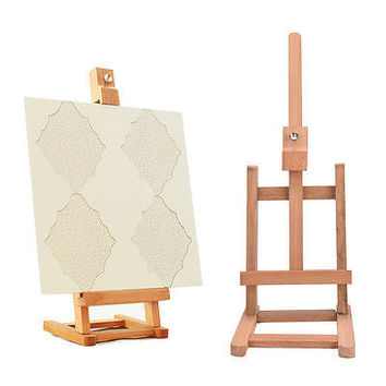 New 43cm Mini Artist wooden Folding Painting Easel Frame Adjustable Tripod TB