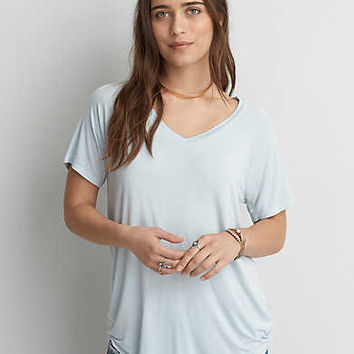 AEO Soft & Sexy V-Neck Favorite T-Shirt , Steel Blue