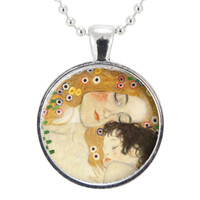 Mother And Child Necklace, Art By Gustav Klimt