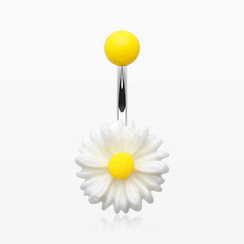 Cutesy Daisy Belly Button Ring