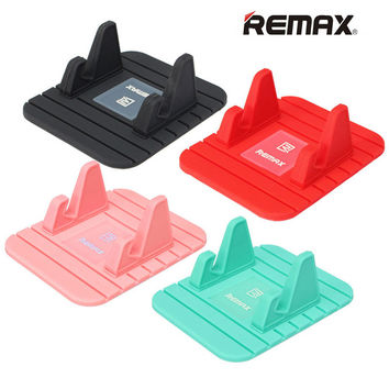 Hot Selling Universal Soft Silicone Car Holder Anti Slip Mat Holder Desktop Stand Bracket For Smart Phone GPS Remax Brand