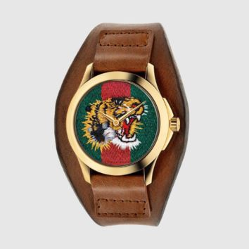GUCCI Unisex Fashion Tiger Embroidery Watch Business Watches Wrist Watch