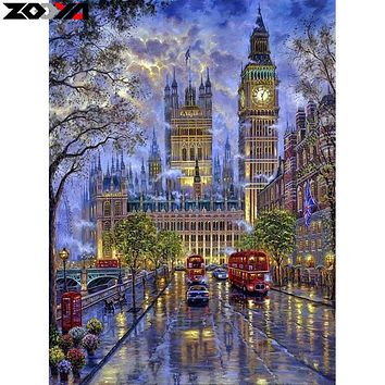 ZOOYA 5d diy diamond painting London street diamond embroidery Cross Stitch full square Rhinestone mosaic home decoration TJ