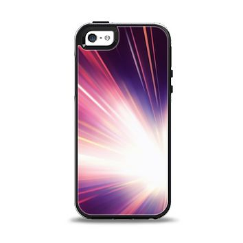 The Pink Rays of Light Apple iPhone 5-5s Otterbox Symmetry Case Skin Set
