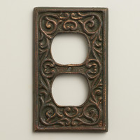 Scroll Print Outlet Plate Cover - World Market