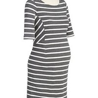Maternity Striped Jersey Dresses