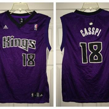 Sale!! Vintage Adidas SACRAMENTO KINGS Basketball Jersey NBA shirt
