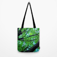 Trees, Nature, Woodland, Zen - Tote Bag - 3 Sizes Available - Baby Shower, Grocery, Beach, Busy Mom, Student - Made To Order - NSLU5#11