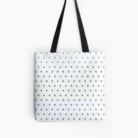 'Knot Star Pattern Blue Green' Tote Bag by craftymummy