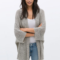 WRAP AROUND CARDIGAN WITH RIBBON