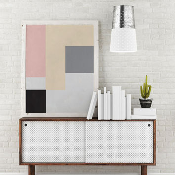 Rectangle Print, Geometric Poster, Abstract Art, Scandinavian Abstract Print Poster, Wall Art, Geometric Print Poster, Minimalist Poster.