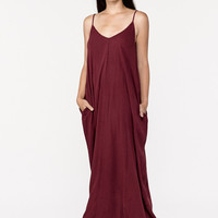 Maia Maxi Dress in Merlot